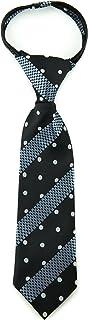 Littlest Prince Couture Ebony Dots & Stripes Infant Zipper Tie 9-24 Months