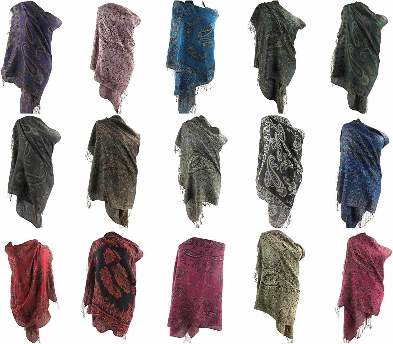 12 scarves floral paisley pashmina shawl wrap stole wraps scarf