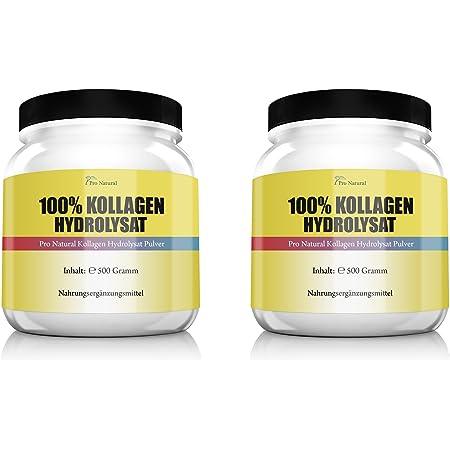 Collagen Protein Pulver 400g Kollagen MSM Vitamin C Hyaluron Knorpel Haut Gelenk