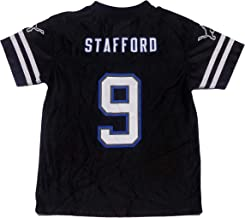 Outerstuff Matthew Stafford Detroit Lions #9 Blackout Youth Player Jersey