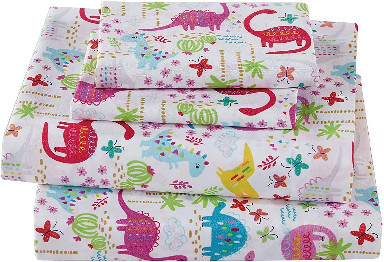 Smart Linen Kids/Teens/Girls Bed Sheet Set Includes Flat, Fitted
