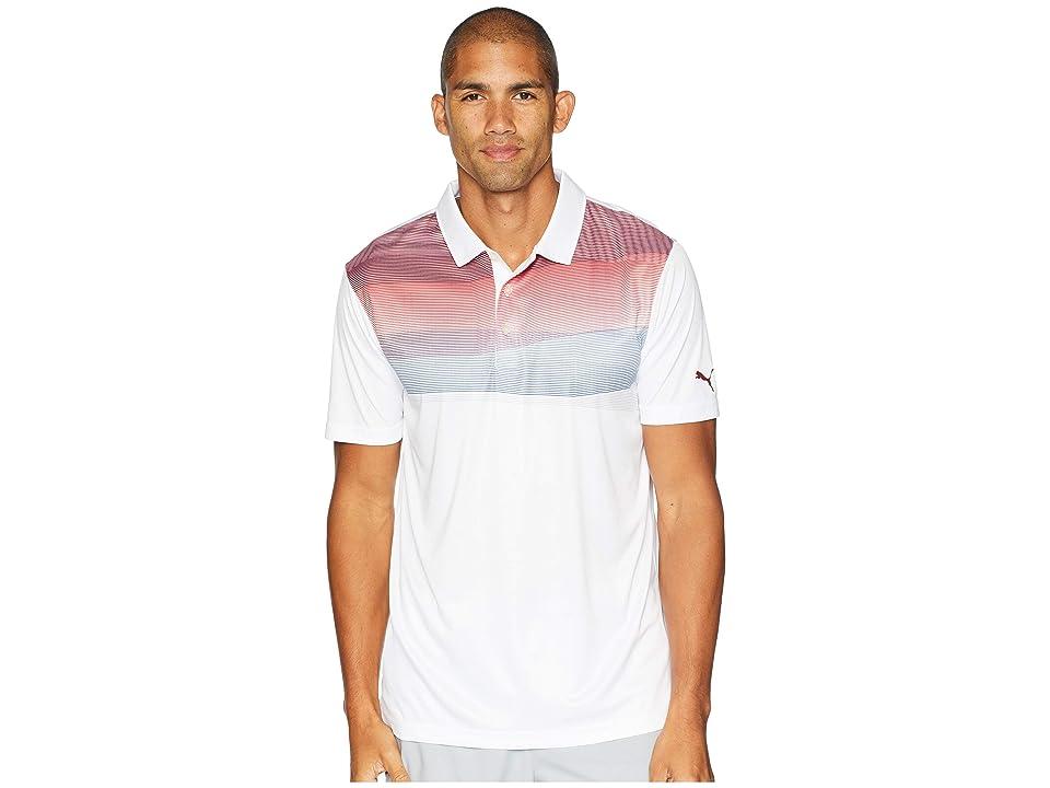 PUMA Golf PWRCOOL Refraction Polo (Pomegranate) Men