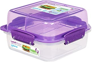 Sistema 21610-4 Lunch Stack Square To Go 1.24L - Purple