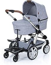 Set ABC Design Trittbrett Kiddie Ride On 2 mit Stoffwindel von Kinderhaus Blaubär | Mitfahrbrett universal passend | Rollbrett für Kinderwagen Buggy bis 20 kg, Größe:SET Trittbrett  Sitz