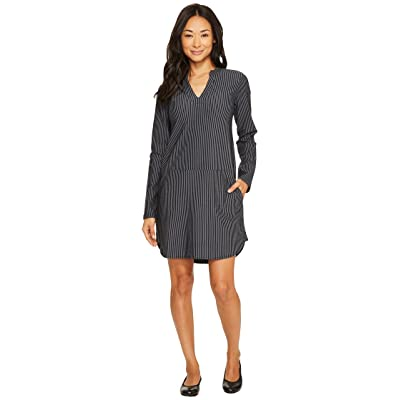 Carve Designs Arapahoe Long Sleeve Dress (Black Caribbean Stripe) Women