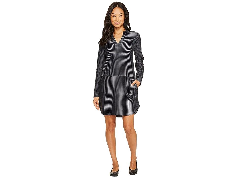 Carve Designs Arapahoe Long Sleeve Dress (Black Caribbean Stripe) Women