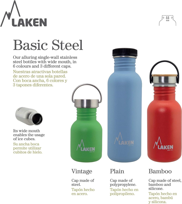 Laken Unisex - Botella de acero inoxidable muy resistente para adultos