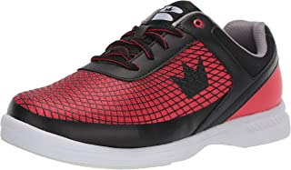 Brunswick Frenzy Mens Bowling Shoe Black/Red, 11.0