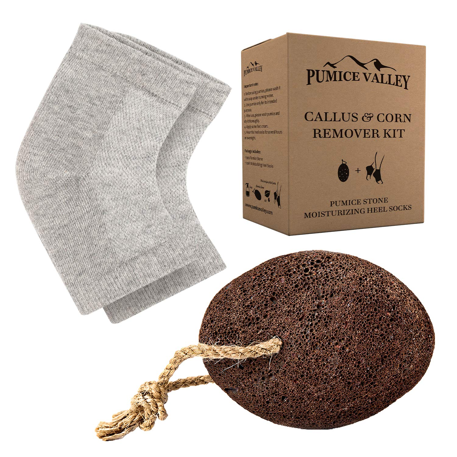 Pumice Stone for Feet Moisturizing Heel Natural Large discharge sale Sleeves Lava Opening large release sale -
