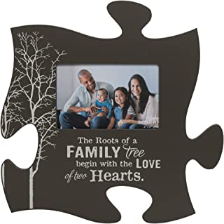 P. Graham Dunn The Roots of a Family Tree Grey 4x6 Photo Frame Inspirational Puzzle Piece Wall Art Plaque