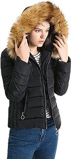 1d31037c18 Romance Zone Doudoune Femme Chaud Parka Manteau en Coton Hiver Blouson  Fourrure avec Capuche Rembourré Veste