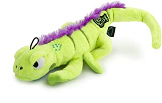 goDog Amphibianz Tough Plush Extra Large Dog Toy with Chew Guard Technology, Iguana