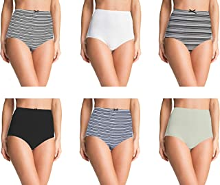 Pepperika Women's High Waist Cotton Elastane Stretchable Hipster Brief Underwear Full Coverage Maternity Pregnancy C-Section Recovery Hygiene After Delivery Panties
