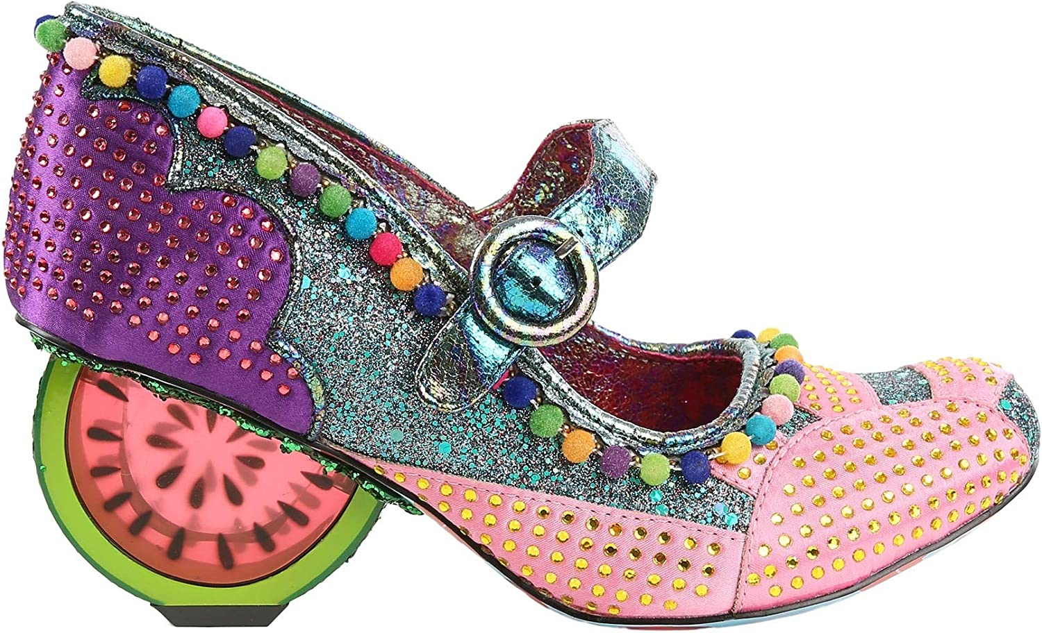 Irregular Choice Fruit Punch Pink & Purple Watermelon Heels