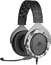 Fone de ouvido estéreo HS60 Haptic da Corsair com graves hápticos, fones de ouvido de espuma de memória, microfone removív...