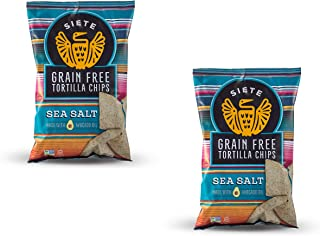 Siete Sea Salt Grain Free Tortilla Chips, 5 oz bags (2 PACK)