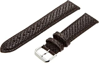 Hadley-Roma Men's MSM843RA-180 18-mm Black Genuine Leather Watch Strap