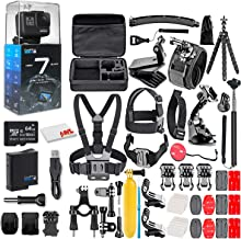 $318 » GoPro HERO7 Black - Waterproof Action Camera with Touch Screen, 4K HD Video, 12MP Photos, Live Streaming and Stabilization - with 64GB Micro Sd Card and 50 Piece Accessory Kit - Fully Loaded Bundle