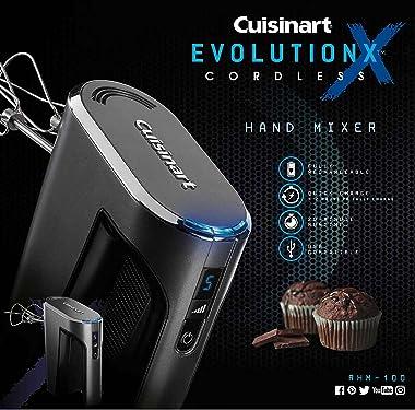 Cuisinart RHM-100 EvolutionX Cordless Hand Mixer, 5 Speeds, Gray/Black