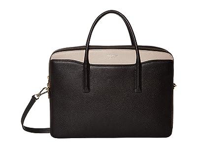 Kate Spade New York Margaux Universal Laptop Bag (Black/Warm Taupe) Computer Bags