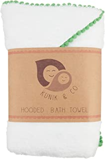 Hooded Bamboo Bath Towel | Extra Soft, Hypoallergenic & Super Absorbent | Kids & Baby Towels with Hood for Newborn, Infant, Toddler Boys and Girls, Beach, Pool Towel, toallas de baño (Shamrock Green)