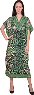 RADANYA Women Beach Caftan Kaftan Lounge Wear Hippy Boho Maxi Kimono Sleeve Long Dress Pink