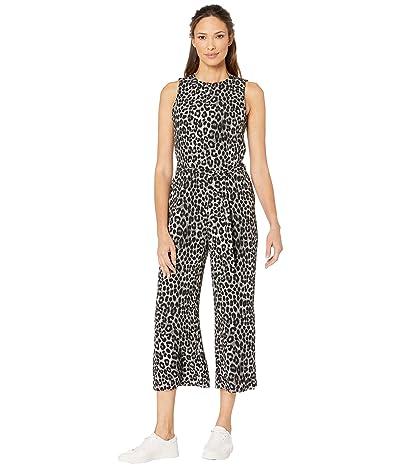 MICHAEL Michael Kors Mega Cheetah D-Ring Jumpsuit (Gunmetal) Women