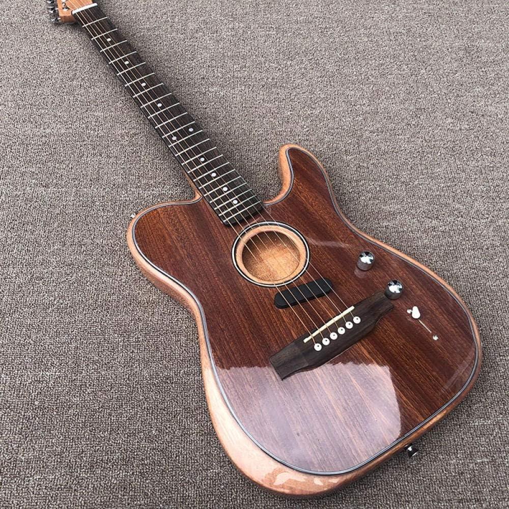 LYNLYN Guitarras Guitarra Eléctrica Cuerpo Hueco Y Puente De Palisandro Guitarra Eléctrica Strings De Guitarra Acero Acústico Guitarra eléctrica (Color : Guitar, Size : 41 Inches)