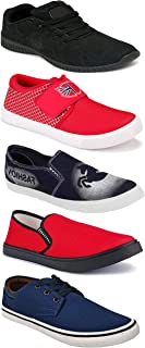 WORLD WEAR FOOTWEAR Sports Running Shoes/Casual/Sneakers/Loafers Shoes for Men Multicolor (Combo-(5)-1219-1221-1140-664-690)