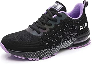 AMEMNY Women's Lightweight Athletic Running Shoes Breathable Fashion Sport Air Cushion Fitness Gym Jogging Sneakers
