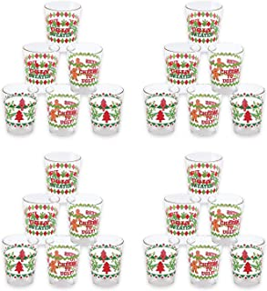 Fun Express Ugly Sweater Disposable Shot Glasses | 1-Pack | 24 Total Count | Great for Christmas Parties, Holiday Celebrations