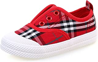 Henraly Kids Classic Plaid Slip On Flat Fashion Loafers Shoes (Toddler/Little Kid/Big Kid)