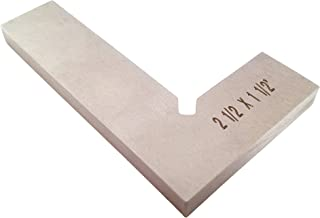 Machinist Engineer Solid Mini Square 2-1/2 x 1-1/2 x .220 Inches Thick DIN 875/0 (Square w/in - 0.0003 Inches) Stainless TTWSS2