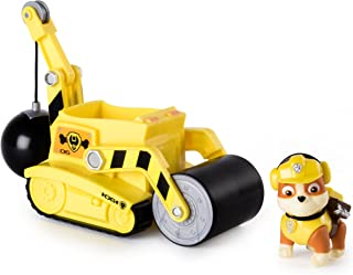 Paw Patrol Rubble Steam Roller Construction Vehicle with Rubble Figure