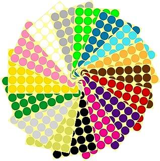 1280PCS 1 Inch Round Dot Stickers Color Coding Labels, 16 Different Colors