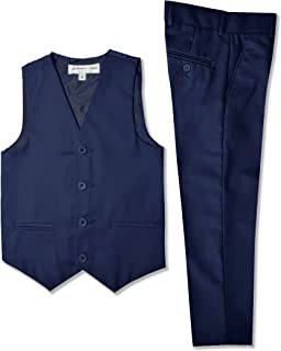 boys navy waistcoat set