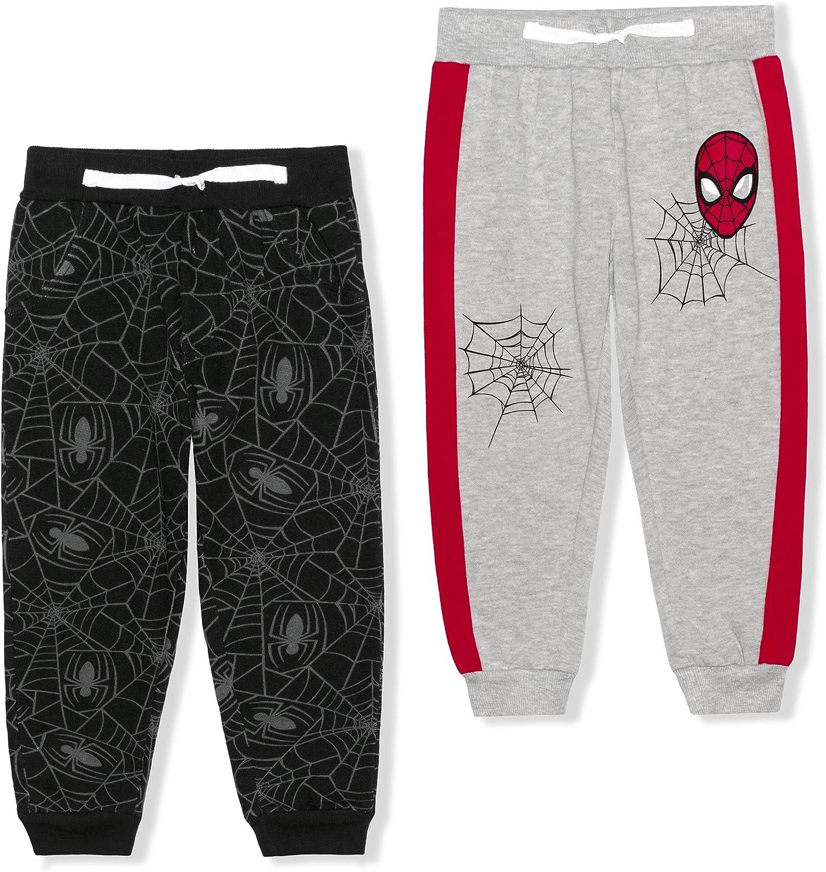 Marvel Boy's Jogger Pants Set, Athletic Sweatpants with Spider-Man Print
