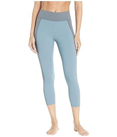 MICHI Lotus Crop Leggings (Angelite Blue) Women
