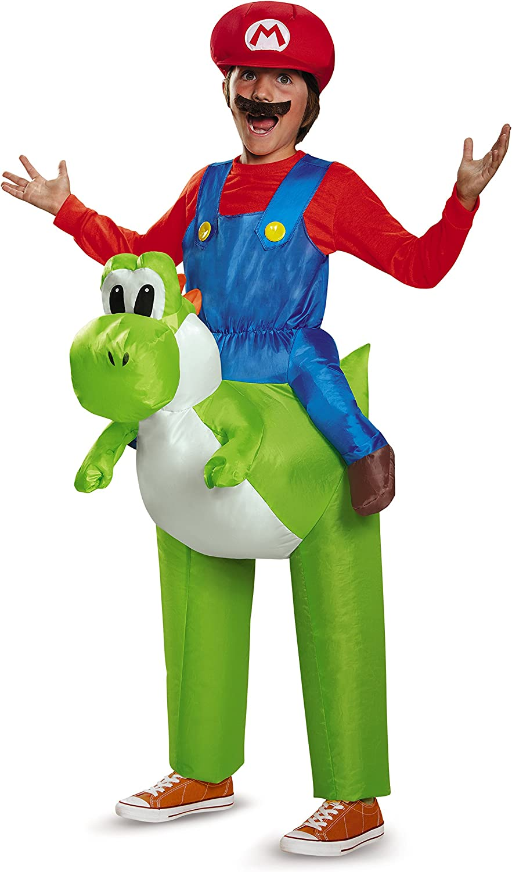 Disguise Costumes Men's Mario Riding Yoshi Adult