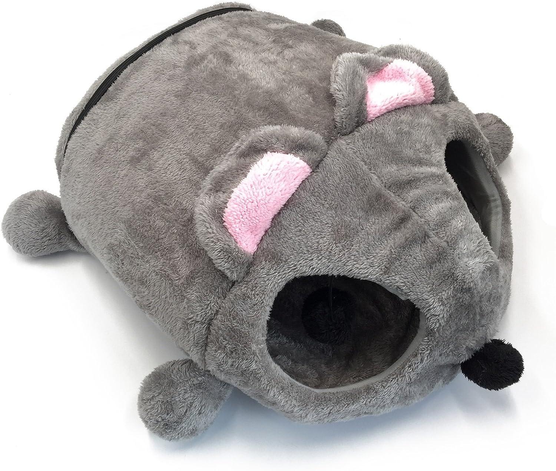 LongYu Pet House, Windproof Warm Cartoon Cat House Winter Warm Pet Cat Kennel Mouse Bed Mat
