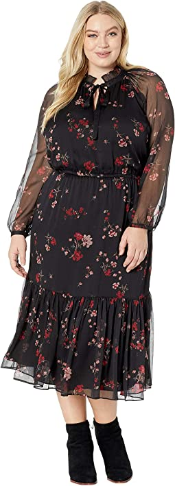 Plus Size Floral Georgette Dress