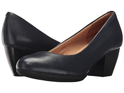Comfortiva Amora (Peacoat Navy River Leather) High Heels