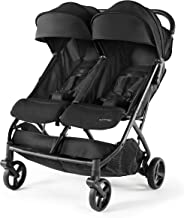 Summer 3Dpac CS+ Double Stroller, Lightweight One-Hand Compact Fold, Carseat Compatible, Black
