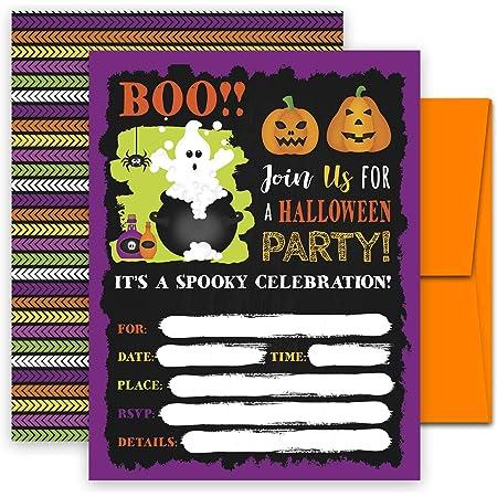 Horror Movie Horror Invitations Party Handmade Pack of 10 Birthday   Scary Move Invitations Wedding Halloween Creepy 3x4