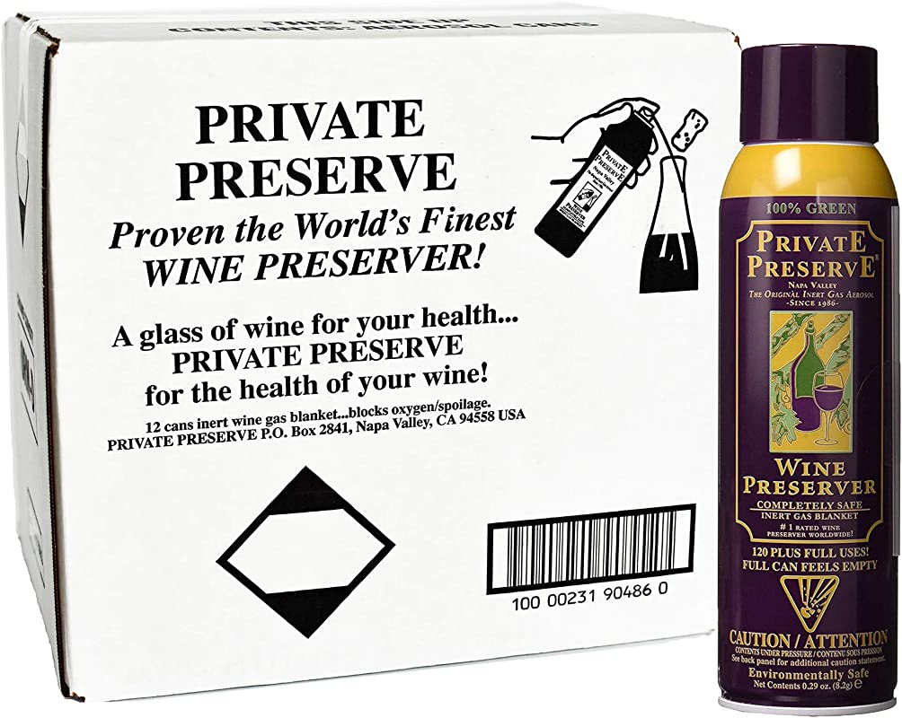 Private Preserve Wine Preservation System Case Pack 12 Cans