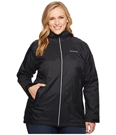 Columbia Plus Size Switchbacktm Lined Long Jacket (Black) Women