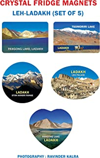 Crystal Fridge Magnets-Leh-Ladakh-Set of 5 Sr. 1