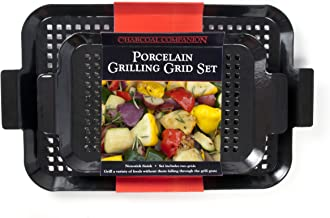 Charcoal Companion CC3110 2-Piece Small/Medium Porcelain Coated Grilling Grid Set