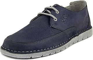 GREENHILL, Derby 43550 - Zapatos de hombre de piel nobuck azul, planta grande, para verano, 43550