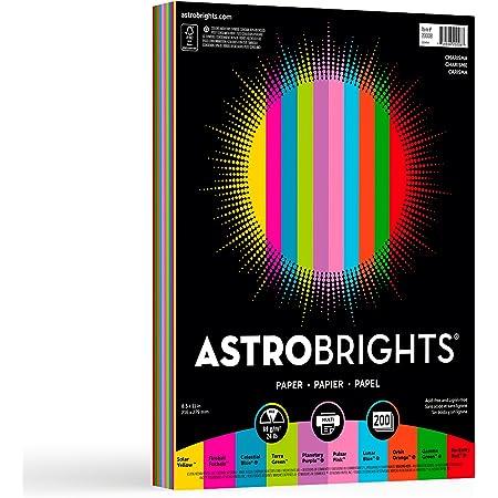 """Neenah Astrobrights Color Paper, 8.5"""" x 11"""", 24 lb / 89 gsm, """"Charisma"""" 10-Color Assortment, 200 Sheets (20008)"""